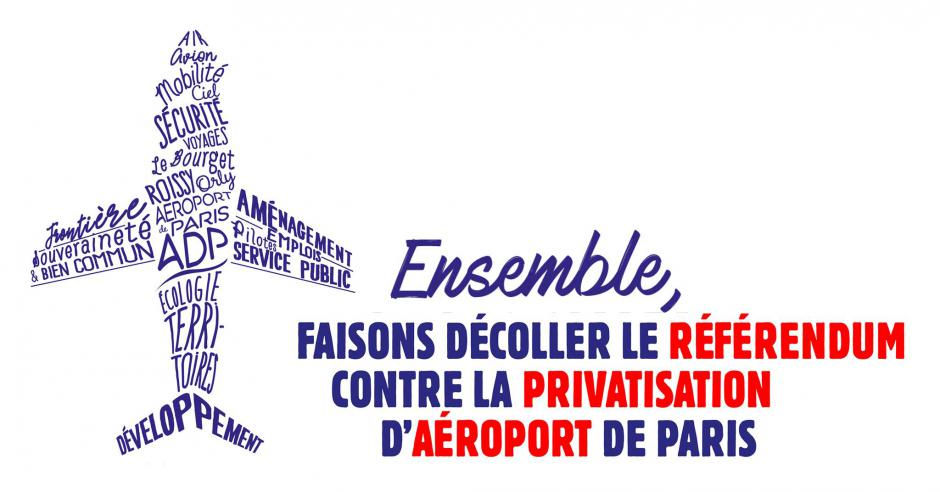 Campagne contre la privatisation d'Aéroports de Paris