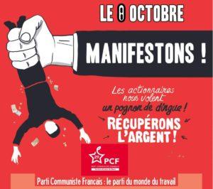 Communiqué : Soutien aux mobilisations des retraités le 8 octobre.