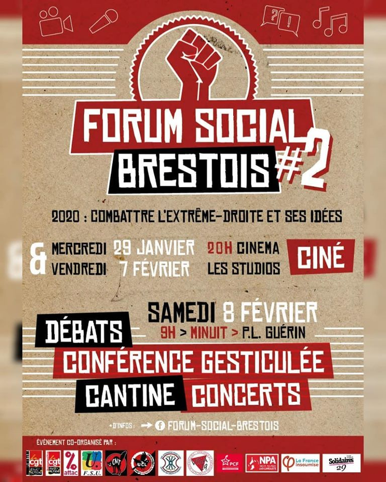 Samedi 8 Février, venue de Thomas Portes dans le cadre du Forum Social Brestois.