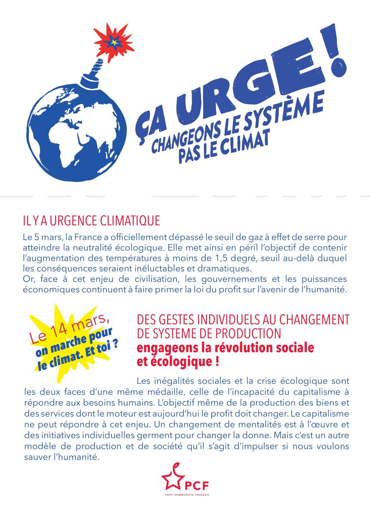 Nouvelle mobilisation nationale pour le climat et la biodiversité les 13 et 14 mars