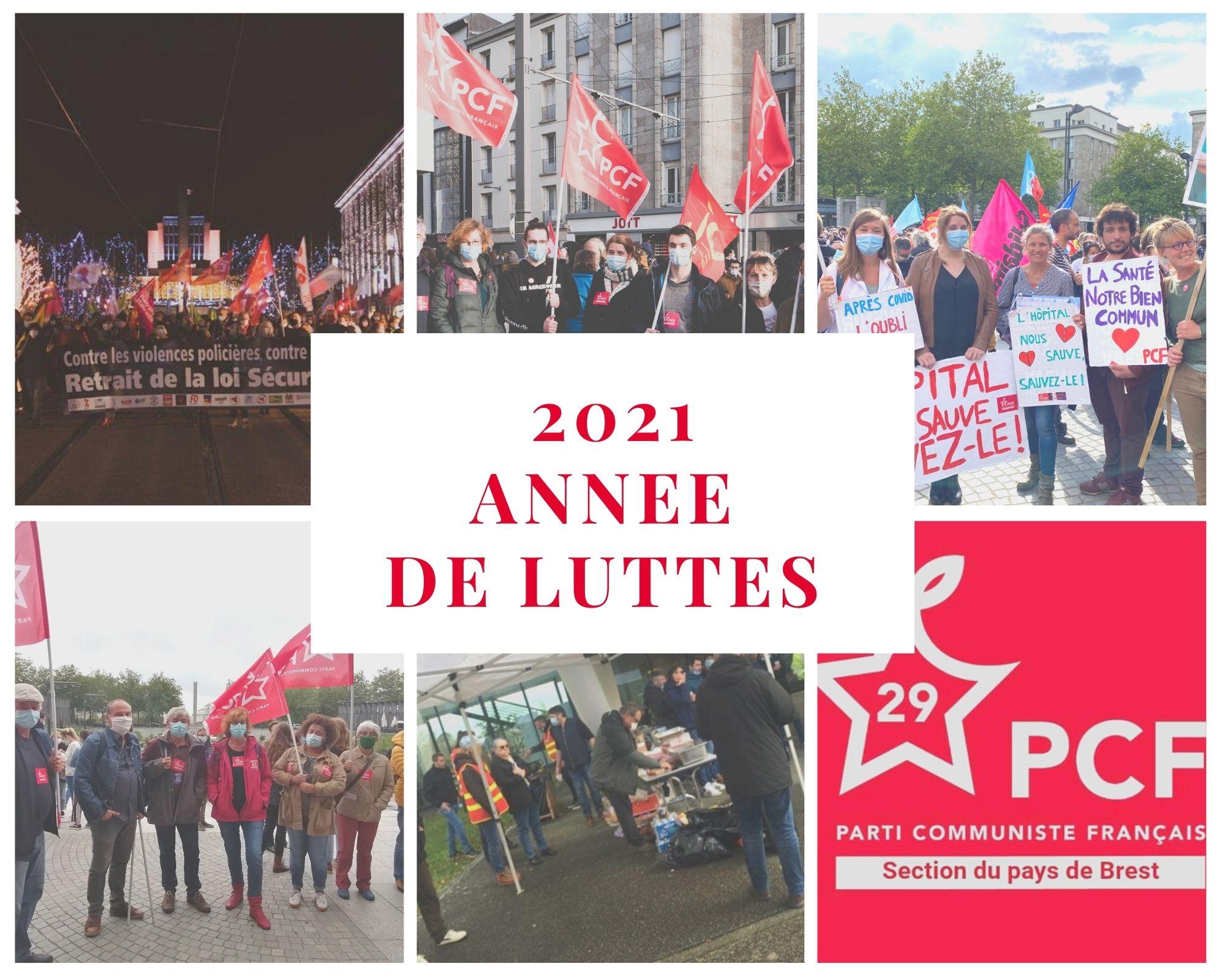 Les militant.e.s communistes de la section du Pays de Brest vous souhaitent une belle année 2021.