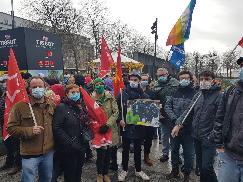 16 janvier – Retour sur la Marche des libertés à Brest: 1500 manifestants contre la loi Sécurité Globale.