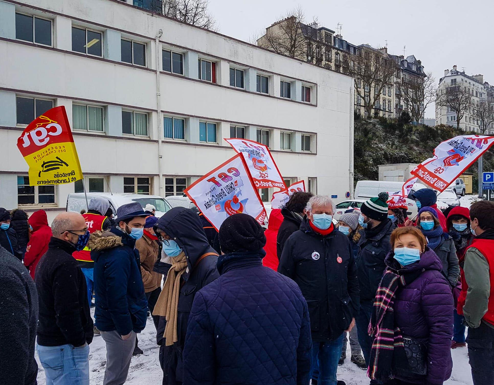 11 Février : Le PCF mobilisé auprès des cheminot.e.s. et des AESH